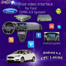 Android Navigation Multimedia Video Interface for 2016 Ford, Focus, Edge, Lincoln, Escape in SNYC3 with Mobile Phone Miracast