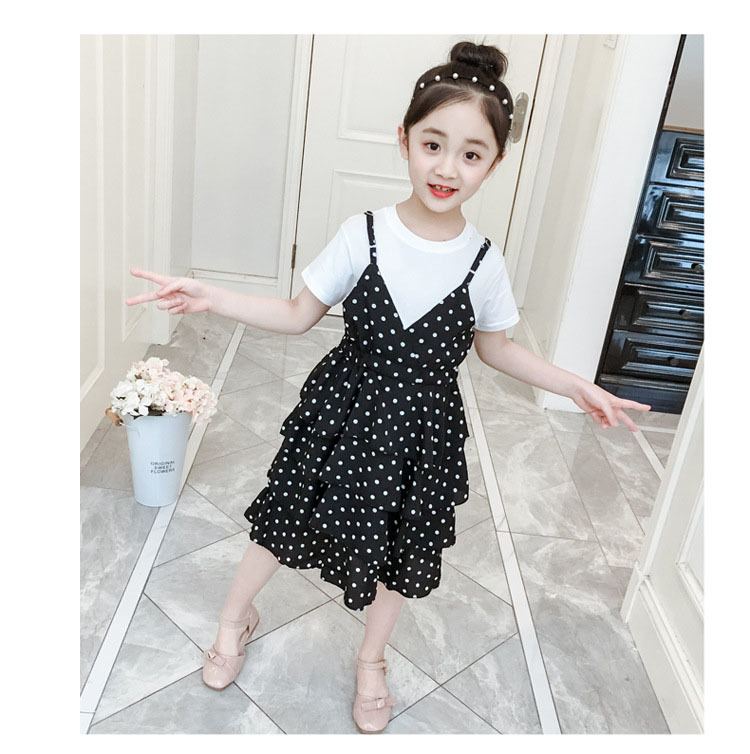 2 Pcs Teenage Girls Clothing Sets Kids Outfits Baby Girls Fashion Clothing Sets Kids Sleeveless Dress And T Shirts Clothes Suits 18 Online shopping Bangladesh
