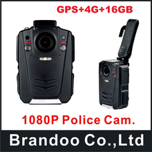 Ambarella A12 waterproof IP65 Police Body Worn Camera 16GB GPS 1080P Night Vision+4G function
