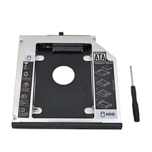 "For Lenovo ThinkPad T420 T430 T510 T530 W700 Optibay Aluminum 2.5"" SSD Case HDD Enclosure  2nd HDD Caddy 12.7mm SATA 3.0"