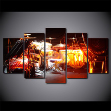 5 Pcs/Set Framed HD Printed Music AVH Kit Modern Wall Pictures Home Wall Decor Poster Canvas Painting Ready To Hang Art