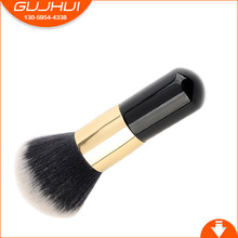 Small Pier Foundation Cream Makeup Brush Portable Head Do Not Eat Flat Black Gold Powder Manufacturing GUJHUI(China)