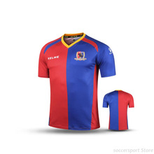 KELME Men Short Sleeve Fans Soccer Jersey Football T-Shirts Red Dark Blue K15Z270(China)