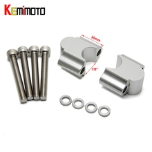 "KEMiMOTO 7/8"" Mount Clamp High Lifter ATV Handlebar Riser 30mm For Suzuki GSXR 750 for Honda 450 250 250R CRF50 for Yamaha TMAX"