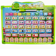 ECRODA 2 IN 1 Russian learning machine and drawing board Painting Pictures Electronic Phonetic Baby Alphabet Music Toy best gift(China)