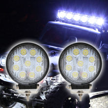 27W LED Work Light 12V 24 IP67 Spot/Flood Fog Light Off Road ATV Tractor Train Bus Boat Floodlight ATV UTV Daytime Running Light