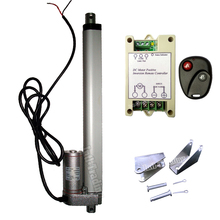 "250mm/10"" Inch Stroke Heavy Duty DC 12V Linear Actuator &Wireless Remote Controller & Brackets-14mm/s Speed 1000N/220lbs Load(China)"