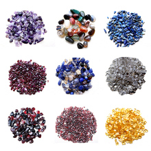 LNRRABC All Kinds Of Natural Red Green Seal Gravel White Crystal Gravel Crafts Accessories Filling For DIY Jewelry(China)
