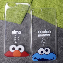 LIHNEL 3D Sesame Cute Cartoon Elmo Cookie Monsters Crystal Clear TPU Back Case for iPhone 5/5S/SE 6/6S Plus 7/7Plus Covers Bags