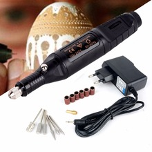 1pc Black Mini Electric Engraving Pen DIY Drilling Grinding Polishing Machine Tool Set For Jewelry Metal Glass