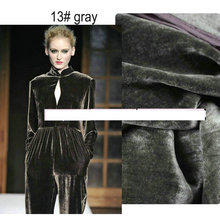 dark grey  (back fabric is  silk fabric , hair is viscose  ) silk velvet fabric