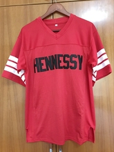 Prodigy #95 Hennessy Queens Bridge Red Football Jersey Stitched Sewn Red(China)