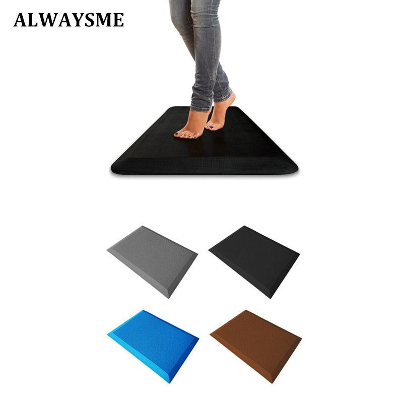 ALWAYSME Standing Desk Anti Fatigue Mat Anti Fatigue Non Slip Comfort Waterproof Kitchen Mat Bathroom Bedroom Anti Fatigue Mat (China)
