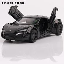 Finger Rock 1:36 Mini Lycan Diecast Metal Car The Fast and the Furious Simulation Sports Car Model Boy Flashing Toy Alloy Car