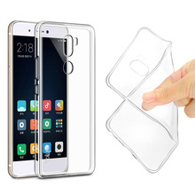 New Fashion Back Cover for Xiaomi 5S Plus Cheap Clear Crystal Transparent TPU Silicone Cellphone Case Ultra Thin Soft Shell