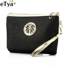 eTya Women Portable Travel Cosmetic bag Casual MultiFunctional Ladies Makeup Pouch Neceser Toiletry Organizer Case Clutch Pouch(China)