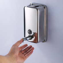 Liquid Soap Dispenser Wall Mounted Finish 304 Stainless Hotel Shampoo Bottles Automatic Dispenser Hand Detergent Dispensador Pum(China)
