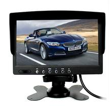 7inch Hot sale digital LCD display car rear view mirror monitor TFT-LCD auto reverse Screen Rear view mirror with DVR and camera(China)