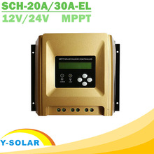 12V 24V MPPT Solar Charge Controller with Heatsink Cooling Design High Eficiency Solar Controller 20A 30A Optional New Arrival(China)