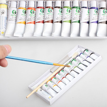 Professional Watercolor Set Paint Water color Pigment Art Water Colour 12 Color 5ml Watercolour Paint With Paint brush