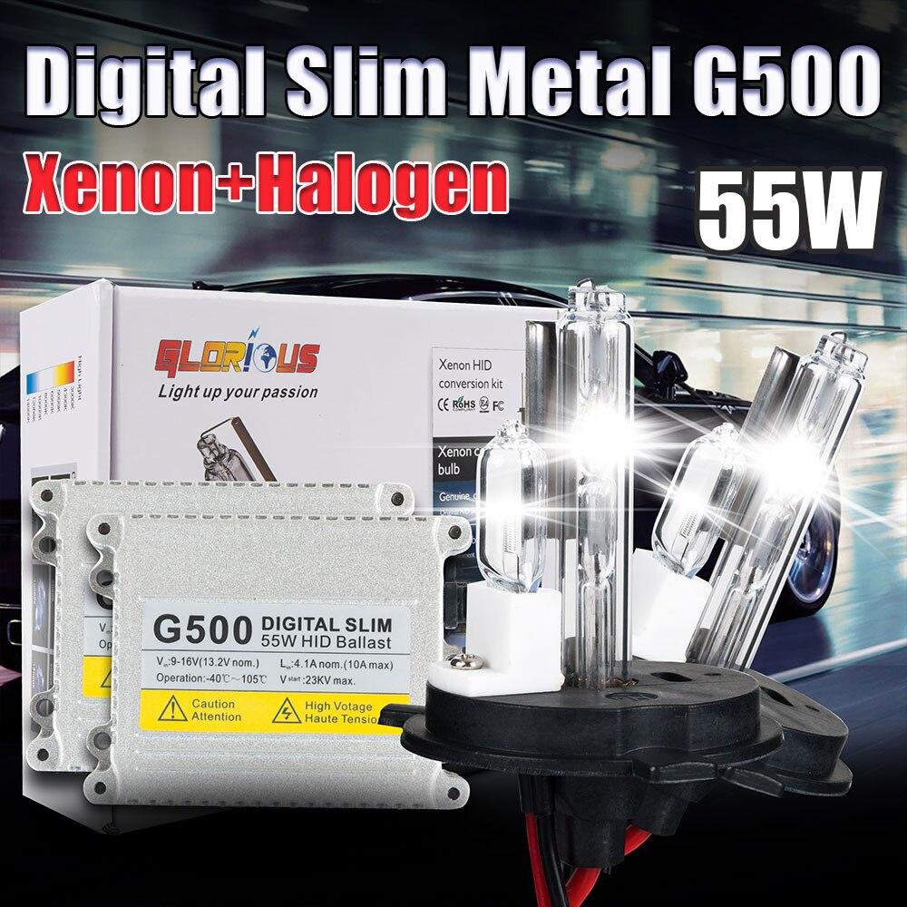 AC 12V G500 55W HID XENON kit H4-2 XENON and HALOGEN 4300K 5000K 6000K 8000K 10000K 12000K, xenon hid kit H4<br><br>Aliexpress