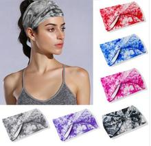 2017 New Tie Dye BOHO Wide Cotton Stretch Women Headband Fascinator Hair Accessories Turban Headwear Bandage Hair Bands Bandana