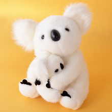 "Stuffed Animal Dolls Collection Cute Toys White Plush Koala Cartoon Motherchild for Baby Kids Boys and Girls Gifts 11*9""(China)"