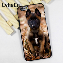 LvheCn phone case cover fit for iPhone 4 4s 5 5s 5c SE 6 6s 7 8 plus X ipod touch 4 5 6 back skins Belgian Malinois Puppy Dog(China)