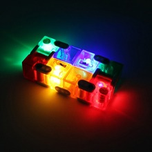 New Infinity Cube High Quality LED Cube Anti Stress Magic Finger spinners Hand Out Door Game Toys Metal Adult