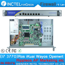 ROS 6 Gigabit flow control 1u firewall router with I7 3770 cpu 1000M 6 82574L 2 groups Bypass model number IN-RBI76(China)