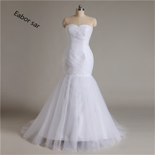 New Arrival  Mermaid Wedding Dress  Up White/Ivory Marry Dresses Bridal Dresses Hot Sale 2017