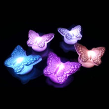 New Arrivals Light Energy Saving Lovely Butterfly Colors Changable LED Light Decoration(China)