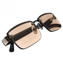 Fashion Tea Color Unisex Brown Crystal Half Rimmed Office Casual Working Reading Anti-radiation Glasses Sunglasses Spectacles