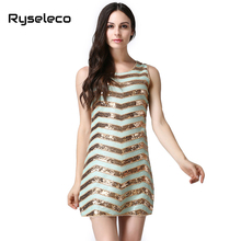 2017 Summer Style Novelty Dresses Women Sexy Paillette Sequined Shinning Party Club Dress Girl Vestidos Clothing Wholesale OEM