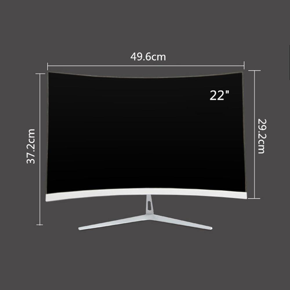 Wearson 22 inch Curved Wide Screen LCD Gaming Monitor 6.5mm Thin Thickness and 1.5mm Little Edge HDMI VGA input Flicker Free (2)