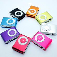 Fashion MP3 Players Metal Clip MP3 Music Player Portable Sport 3.5mm Mini Mp3 Support Micro SD card Free shipping
