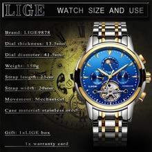 LIGE Watch Automatic Mechanical LIGE9878