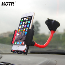 HOTR Premium Auto Car Phone Holder Windshield Dashboard Mobile Phone Holder Flexible & Rotatable GPS Stand Display Universal(China)