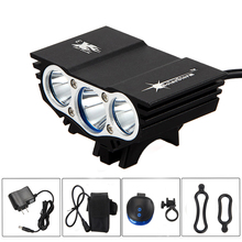 Solar Storm 6000Lm 3x XM-L U2 LED Bicycle Light Bike Front Light Headlight With 6400mAh Battery Pack+Laser Rear Light+Charger