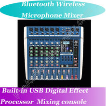 MICWL Wireless Bluetooth USB 24BIT DSP 48V Phantom Power Mic Mixing Console Mixer ideal for live sound applications(China)