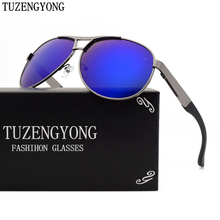 TUZENGYONG Men's brand designer polarized sunglasses coating Sun Glasses oculos Gafas Male Driving UV400 Eyewear With Case T8005(China)