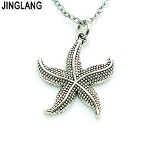 JINGLANG (Birthday's Gift) Free Shipping New Arrival Best Selling Good Quality Fashion Sea Star Pendant Necklace for Sale