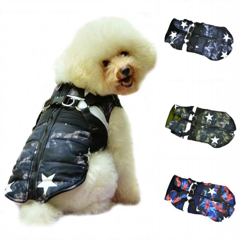 Pet Dog Fleece Harness Warm Vest Jumper Sweater Coat for Small Medium Dogs XS-L