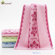 HAKOOONA Three Pieces/ Set Cheap Face Towels Absorbent Floral Pattern Adults Bathroom Products