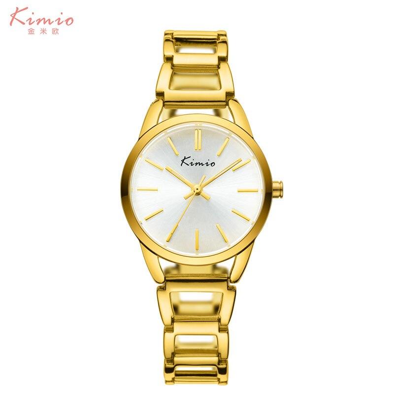 2016 New watch women KIMIO Clock Marke Frauen Rose Gold Edelstahl Japan Quarzuhr Kristall Analog Damen Uhren Relogio Feminino <br><br>Aliexpress