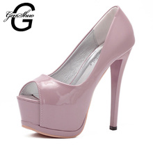 Woman High Heel Shoes Gray Pink Platform Dress Shoes Open Peep Toe White Pumps For Wedding Party Prom Homecoming Pumps
