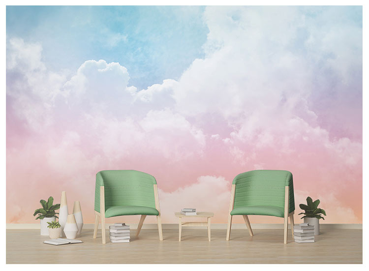 HTB1VpaBh8mWBuNkSndVq6AsApXaJ - Pink Sky Cloud 3d Cartoon Wallpaper Murals for Girls Room
