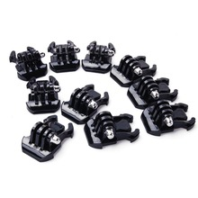 10pcs Buckle Clip Basic Mount for Gopro Go Pro Hero HD 1 2 3 3+ 4 5 Accessories Case Helmet for XiaoMi yi camera accessories