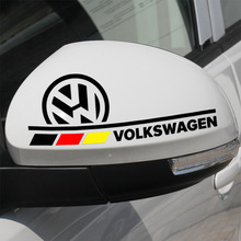 Customization Car Rearview Mirror Stickers Decal Car Styling for Vw Polo Golf 5 Passat B5 B6 Beetle Touran Bora Caddy Jetta EOS