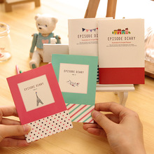 1 Pics 11.8 X 8.2cm Mini Paris Plan Airplane Notepad Cute Notebook Note Book Small School Supplies Diary(China)